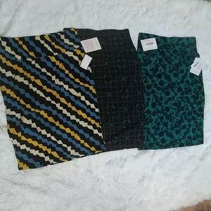 LOT/3 LuLaRoe Cassie Pencil Skirts S 6-8